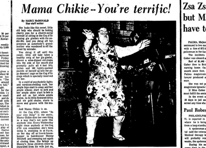 Mama Chikie – the go-go dancing star of Toronto clubs